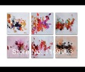 5 piece Abstract canvas wall art colorful small piece water color handpainted picture oil painting set