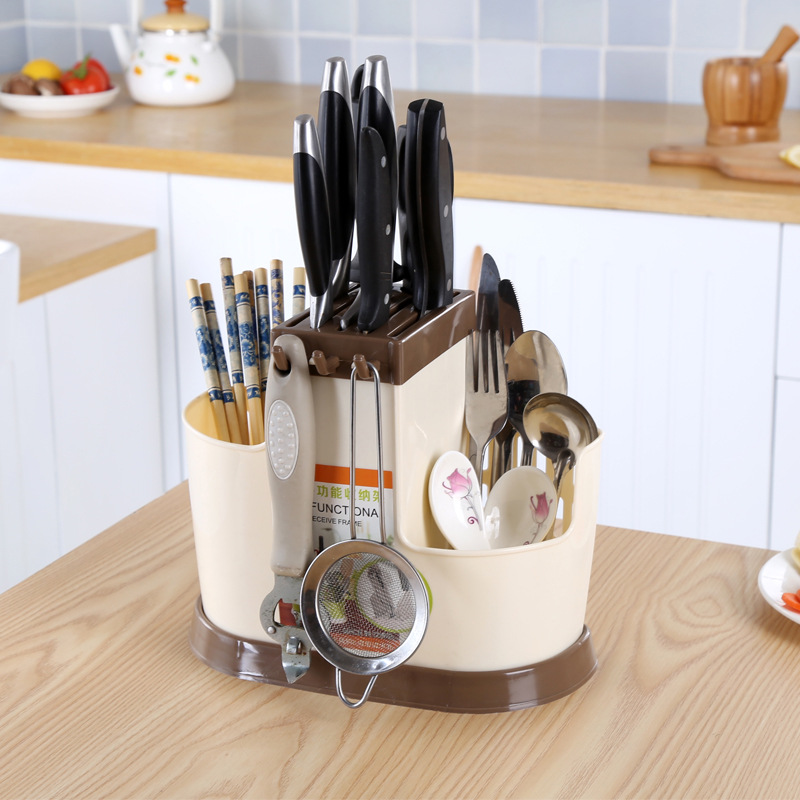 2016 multifunction creative kitchen shelving rack dish rack Drain chopsticks rack storage rack creative plastic cutlery(China (Mainland))
