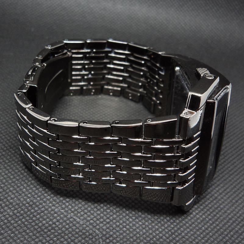Fashion Full Steel Led Digital Watch Men Sport Watches Military Watches IRON Man Bracelet Wristwatch Hours