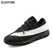 2016 Limited Rushed Rubber Yeezy Led Shoes high Quality Shoes Causal Fly Weave Fashion Flat Breathable Light Soft Flats J196(China (Mainland))