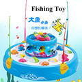 Battery Operated Double Magnetic Fishing Toy With Light And Music Learning Education For Children Outdoor Fun