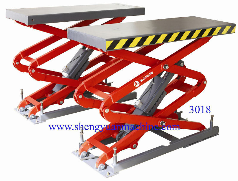Hydraulic Scissor Car Lift With Rubber Pads For Protection SXJS3018(China (Mainland))