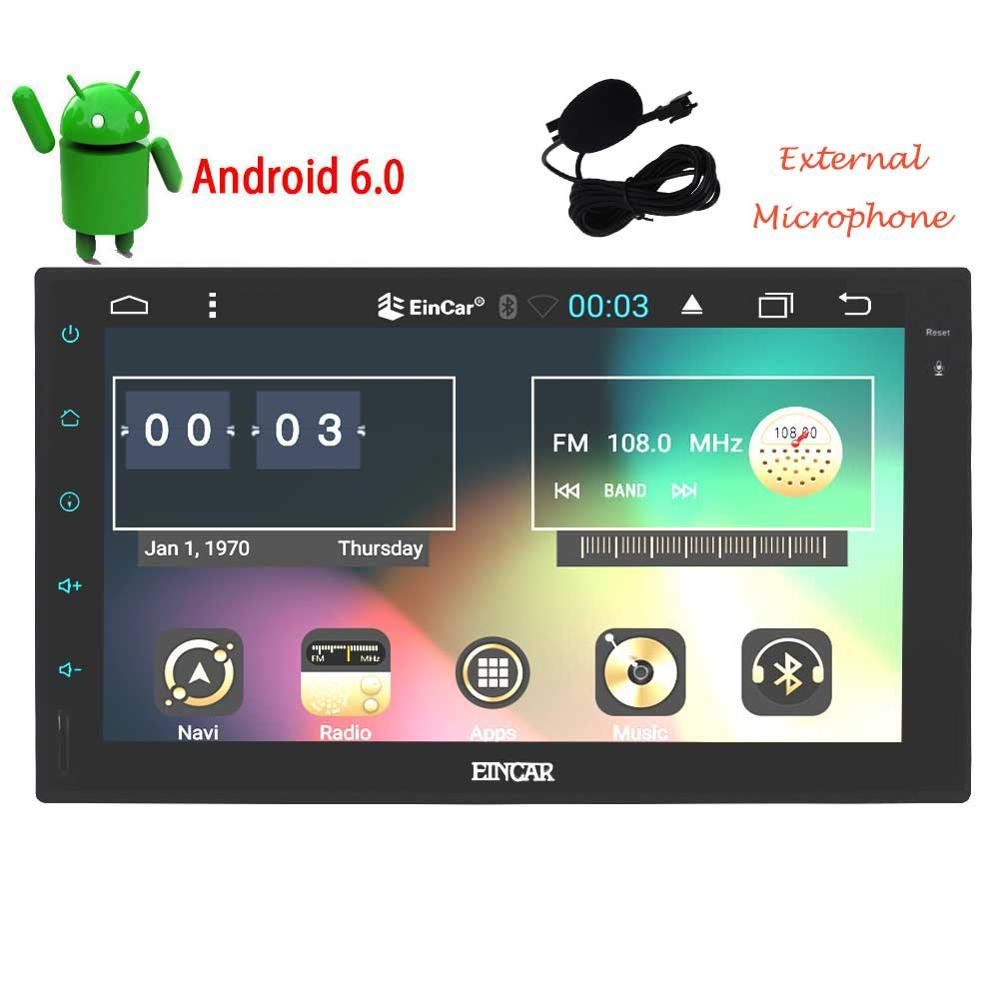2 Din Android 6.0 Car no-DVD Radio Player 7″1024*600 Universal For din car video GPS Navigation BT autoradio Stereo Audio Player