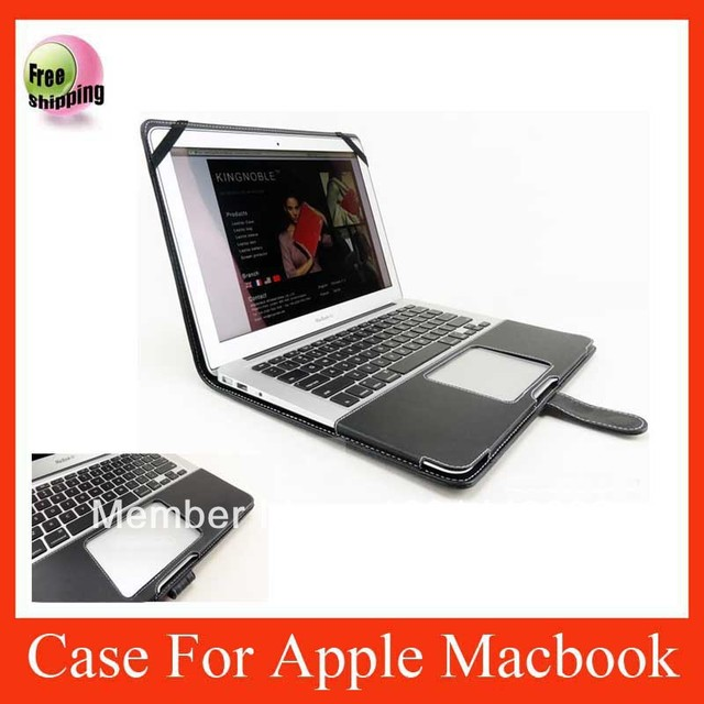 "ON SALE smart PU leather cover case for Apple Macbook Air 11"" black color CPAM free shipping"