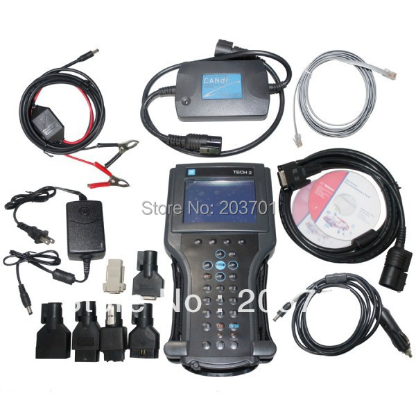 G-m tech2 support 6 software(G-M,OPEL,SAAB ISUZU,SUZUKI HODEN) Full set diagnostic tool Vetronix g-m tech 2 with candi interface
