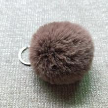 27 cores 2019 fofo pom pom pom chaveiro anel para as mulheres sacos do carro moda falso coelho pele pompom chaveiros acessórios de jóias(China)