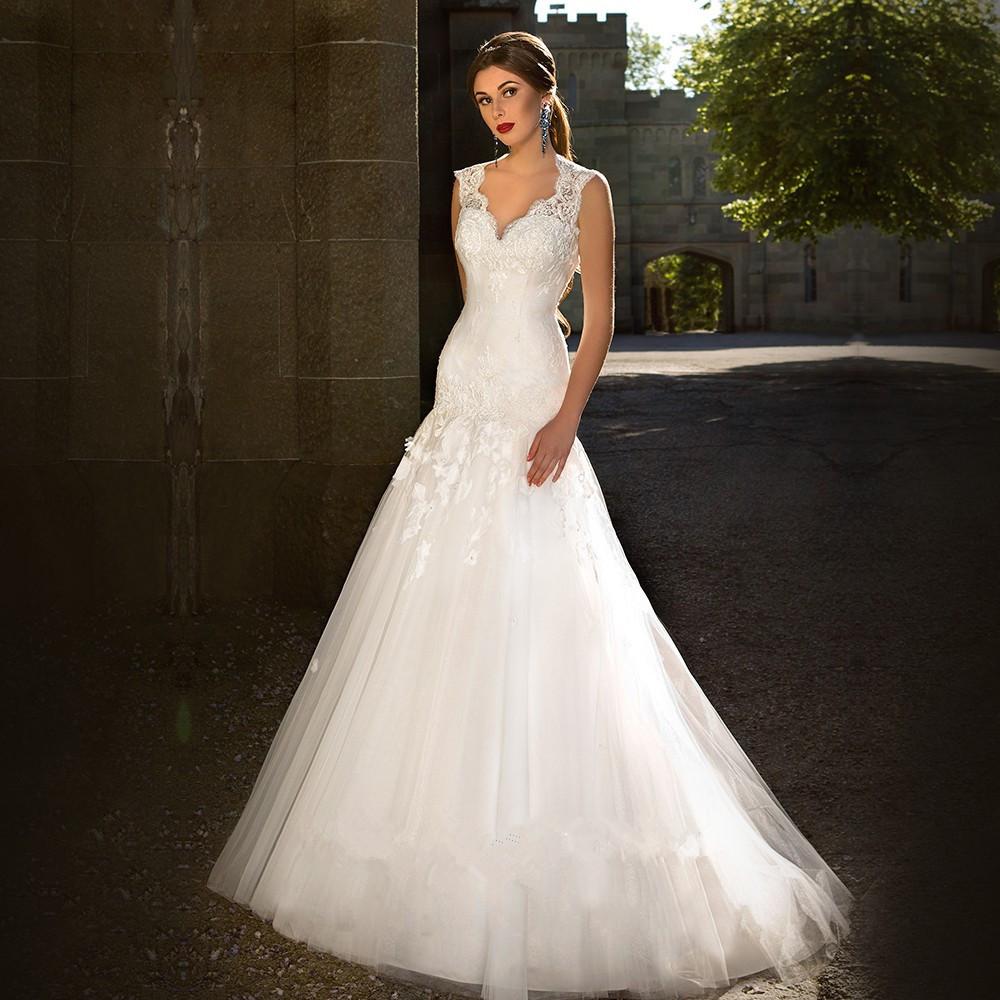 Vestido De Novia 2016 Hot Sale White Ivory Tulle Wedding