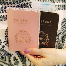 Travel Utility Simple Passport ID Card Cover Holder Case Protector Skin PVC 01WE 48PC