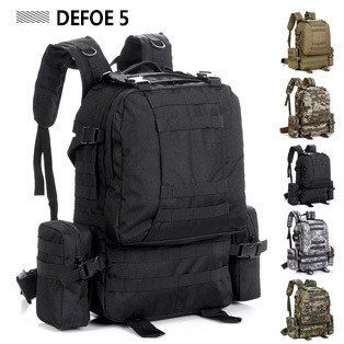 MOLLE Removable Pocket New Sports Outdoor Fashion School Large Big Backpack Camping Bike Riding 50L Special 9901 # Tactical Gear - DEFOE 5 Outdoors store