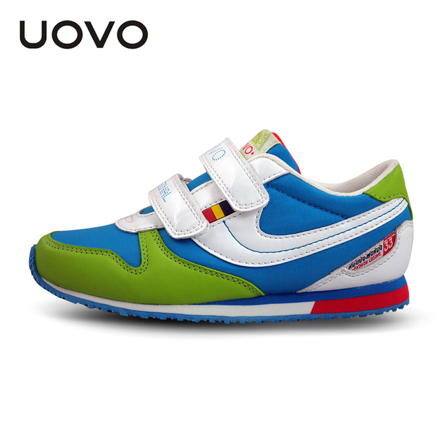 UOVO 2016 хит цвет мода детская shoes brand shoes school shoes for teen девочек и мальчиков размер 25-38