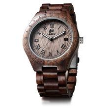 LeeEv reloj de pulsera de madera hecho a mano para hombre, reloj de pulsera de cuarzo, reloj de pulsera, reloj Masculino, reloj Masculino(China)