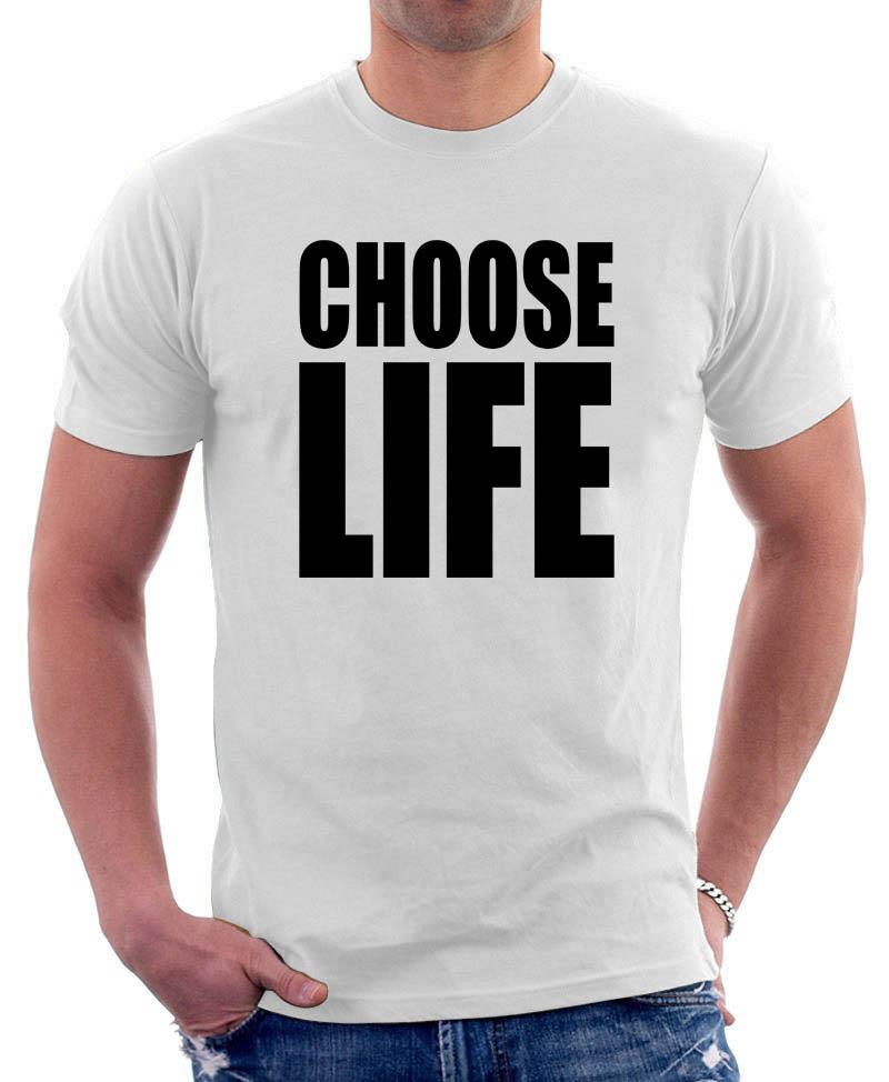 Choose Life Wham Retro 80s T Shirt Fancy Dress Inspired