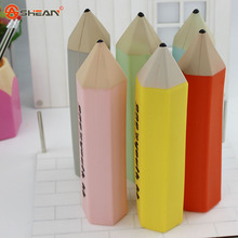 1X Creative Stationery Pencil Style Silicone Pen Bag Box Case Storage Stationery School Supplies Kids Gift Rewarding Prize