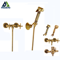 Wall Mounted Brass Bidet Mixer Faucet Toilet Sprayer Tap Antique Bathroom Mop Cleaning Tap Handheld Shower