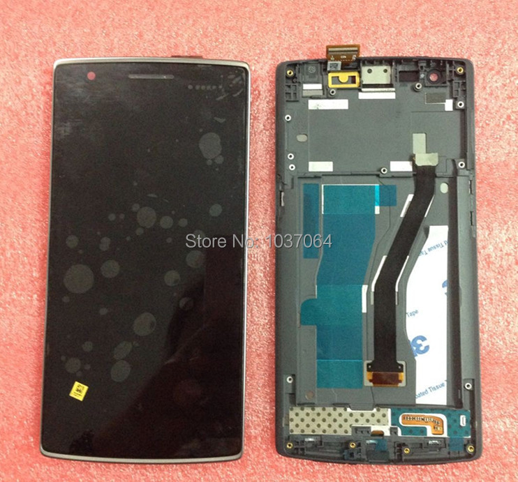 Quality tested LCD screen Display+Touch Digitizer with frame For OnePlus ONE BLACK COLOR free shipping(China (Mainland))