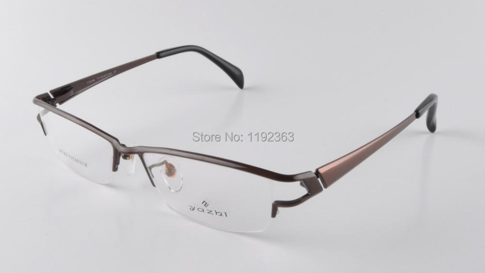 Temperament High Quality Glasses Frame Men Titanium Half ...