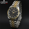 New arrival ChenXI CX 004A Men watch lovers watch men full steel watch gold steel with