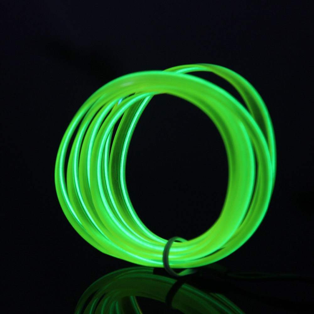 2016 new 2m 10 colors diy lights led flexible neon glow el wire rope tube decoration lights fit. Black Bedroom Furniture Sets. Home Design Ideas