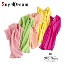 Buy 100%REAL SILK Women Blouse shirt short sleeve Solid chiffon O neck shirt Blusas femininas 2017 Spring Summer New ) for $23.80 in AliExpress store