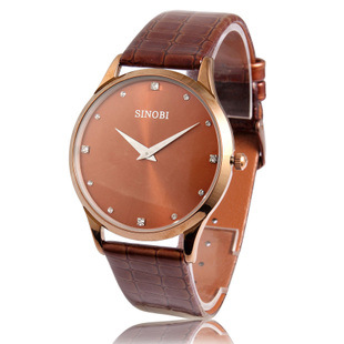 Father's day gift When the 9141 men's watch belt thin knobby retro table.(China (Mainland))