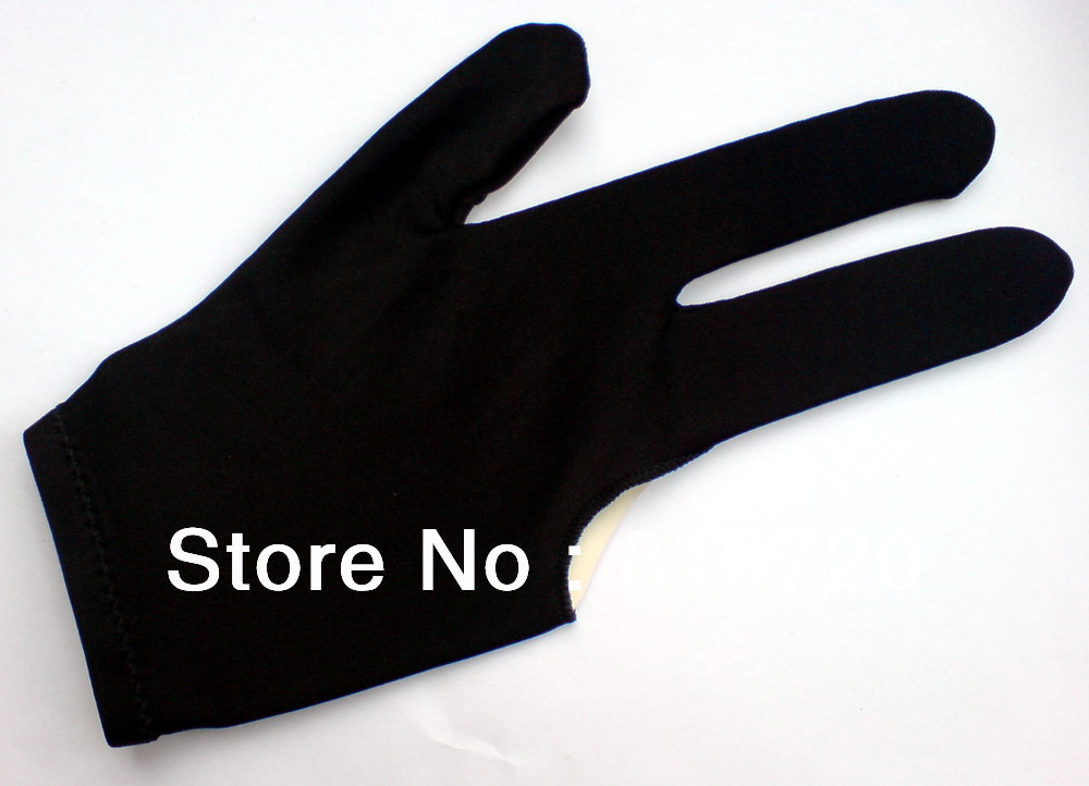 Free shipping 5pcs/LOT black Pool snooker Billiard table glove 3finger shooter