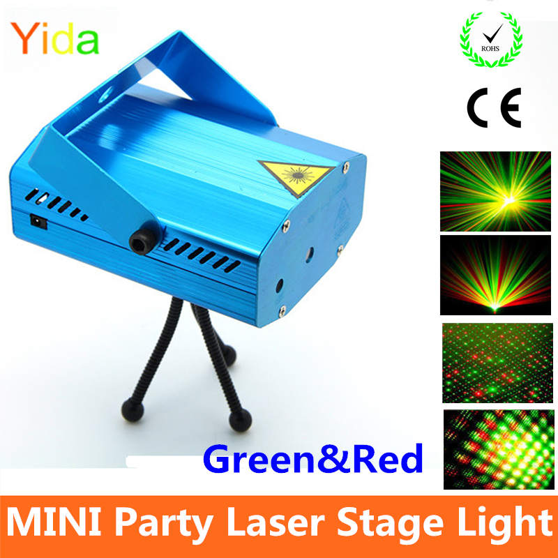 Mini stage sound/auto controled party stroboflash holographic lighting KTV DJ Disco Dance Lights laser projector stroboscopic(China (Mainland))