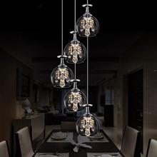 Modern Pendant Chandelier 4/5/6/8 Head Optional LED Crystal Pendant Lamp Three Head Disc Tray and Rectangular Plate Optional(China (Mainland))