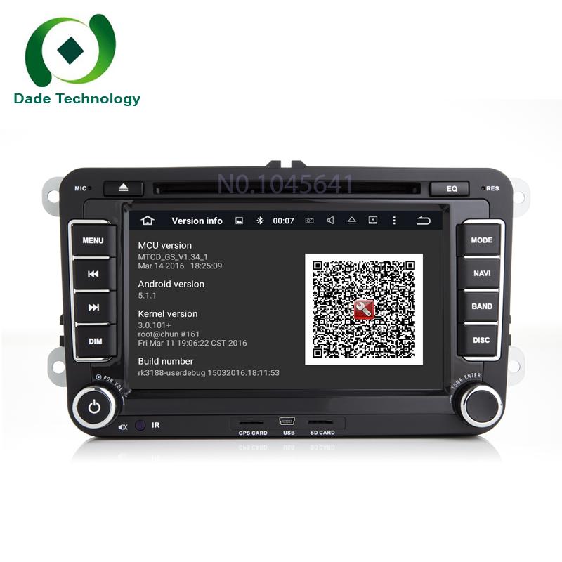 Quad Core 2 din Android 5.1.1 Car DVD player Radio GPS for VW Volkswagen GOLF 5 Golf 6 POLO PASSAT SKODA CC JETTA TIGUAN TOURAN(China (Mainland))