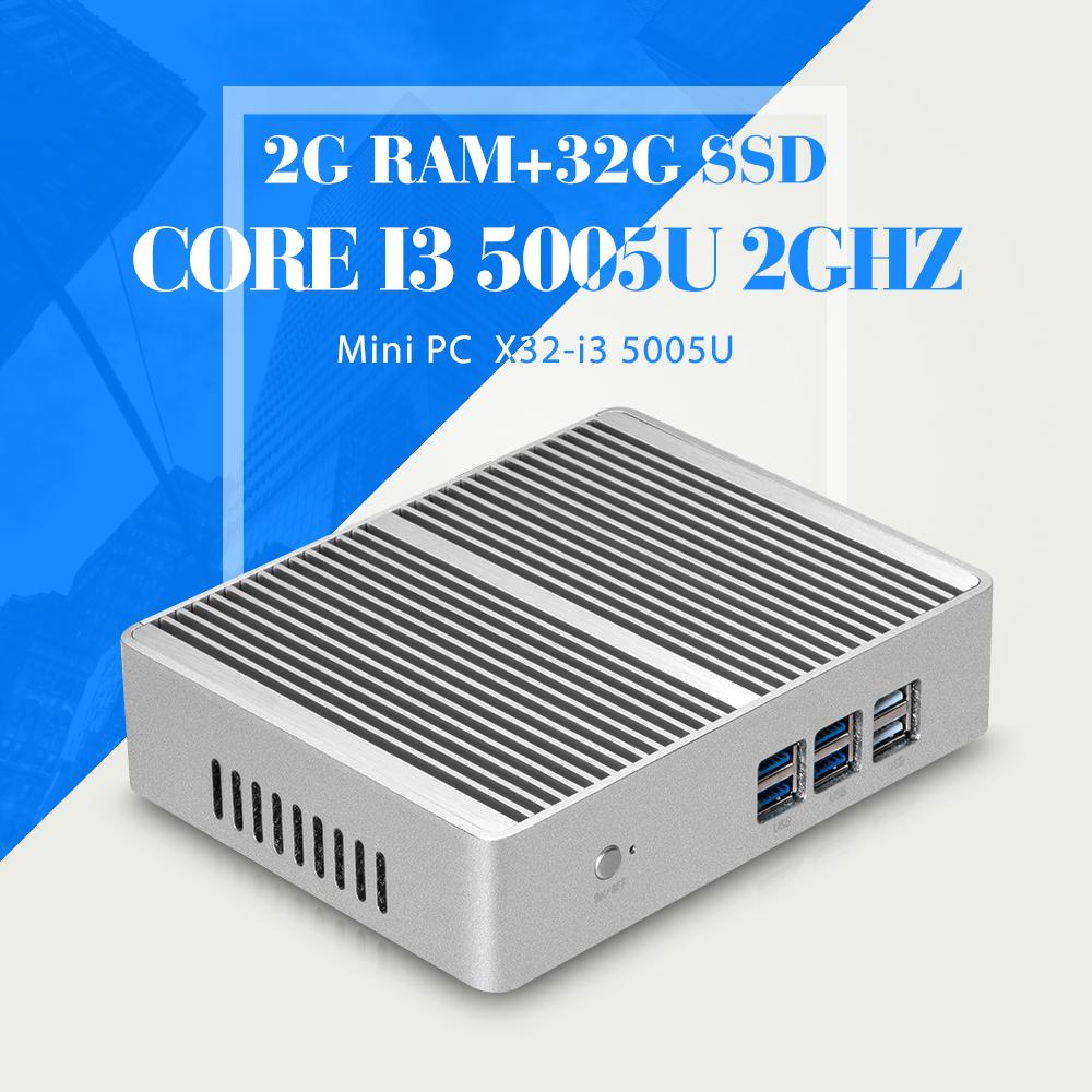 2016 Newest I3 5005U Mini PC Computer Dual Core 2Ghz 2G RAM 32G SSD Wifi Win8.1 Win10 Best Desktop Replacement(China (Mainland))