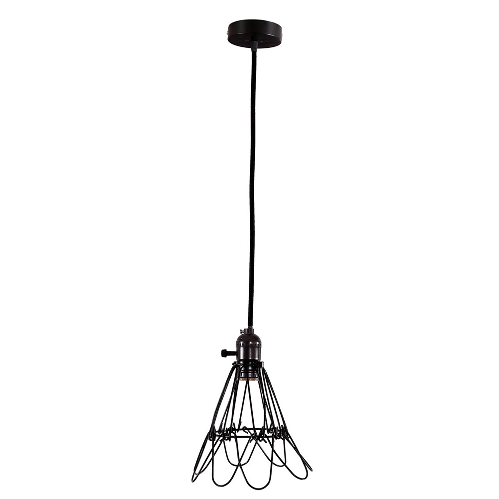 Edison Retro Antique Vintage Ceiling Pendant Light Shade Durable Chandelier Hanging Lampshade Black<br><br>Aliexpress