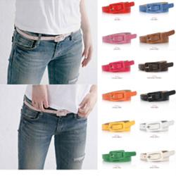 2015 women's candy color square toe thin belt pin buckle chain strap  -  NUNU store