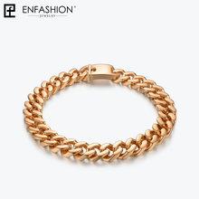 Enfashion Big Strong Link Chain Chokers naszyjnik kobiety złoty kolor stal nierdzewna kreatywne naszyjniki Ketting mężczyzn biżuteria PM3014(China)