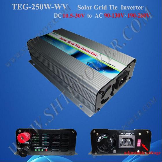 dc 12v 24v micro grid tie solar inverter 250W for 220v country(China (Mainland))