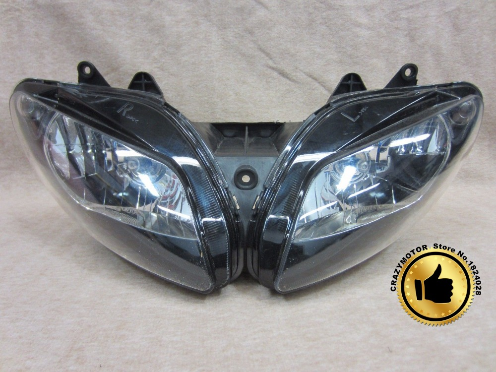 Great Quality Headlight For YAMAHA YZF R1 2002-2003 02-03 2002 2003 Motorcycle Head Light Super Bike Front Lamp Assembly(China (Mainland))