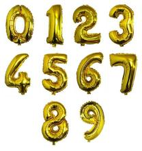 1pcs 40 inch Gold balloons Digital 0-9 Number Balloons  Wedding Birthday Party Decorative Inflatable balao de festa casamento(China (Mainland))