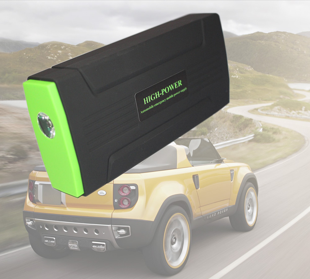 Multi-Function Mini Portable Car Jump Starter 30000mAh Start 12V Car Engine Emergency Battery Power Bank Fast Charge Post Free(China (Mainland))