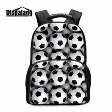Buy Dispalang Large Capacity School Backpack Ball 3D Pattern Children Middle School Students Back Pack Casual Bookbags College for $29.99 in AliExpress store