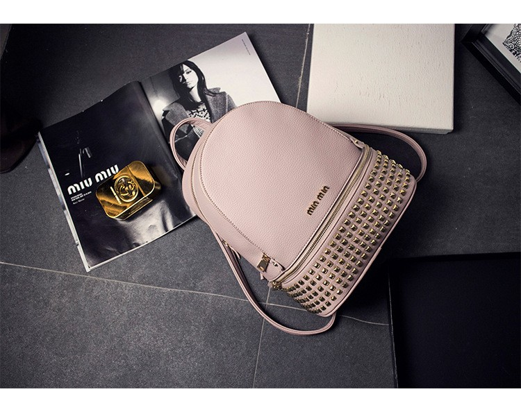 vintage casual new style leather school bags high quality hotsale women candy clutch famous brand backpack