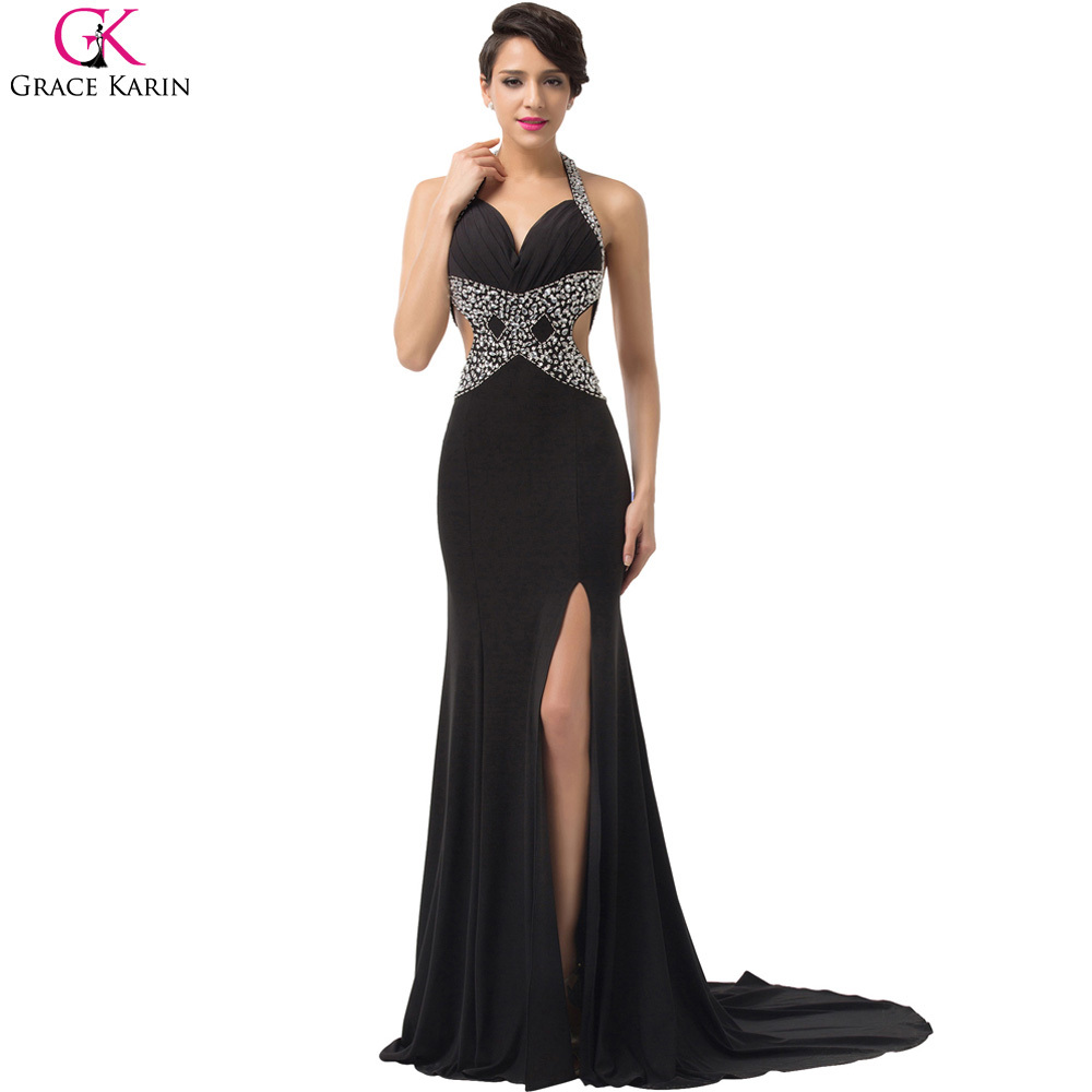 Buy sexy black evening dress grace karin for Night dresses for wedding night