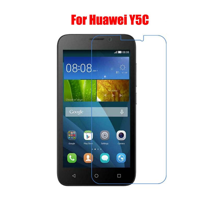 2Pcs 9H Tempered Glass Screen Protector Film For Huawei Y5 Y5C Y520 Y540 Y541 Y530 Y550 Y560 L23 + Alcohol Cloth + Dust Absorber(China (Mainland))