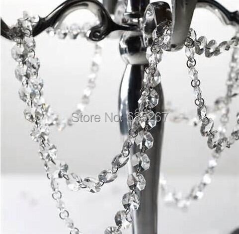 500M/Lot Crystal Garland, crystal glass garland strand for Wedding & Christmas Decoration chains(China (Mainland))