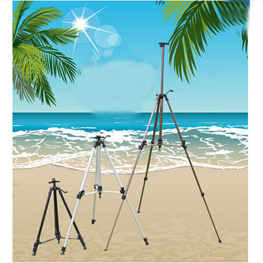 7 Color Optional Telescopic Small Hand Aluminum Alloy Easel Folding Metal Easel Sketchpad Sketch Sketch Plane Triangle Frame