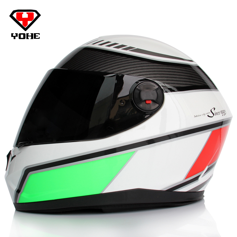 Yohe helmets men full face motorcycle helmet motorcycle racing helmets moto biker casque moto casco moto integral M L XL XXL(China (Mainland))