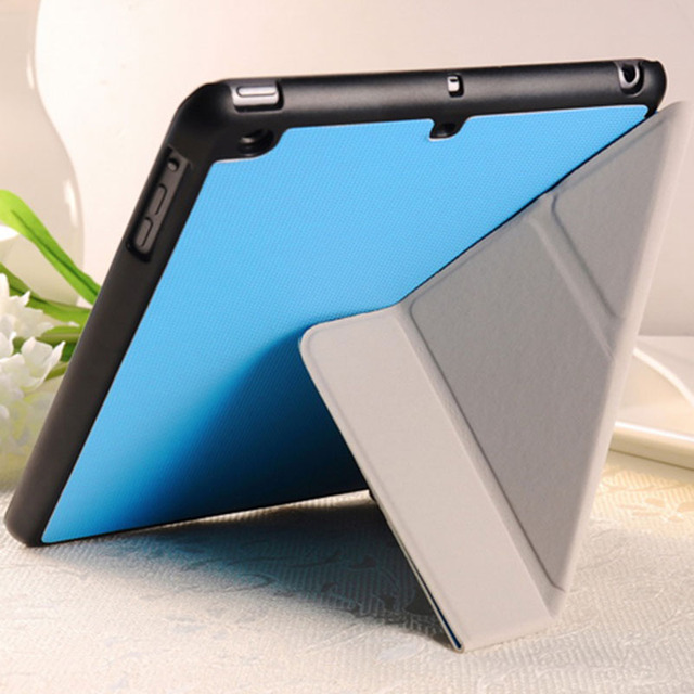 5 Shapes Transfer PU Leather Stand case for iPad Mini / Mini Retina 2 3 New Smart cover luxury Red Pink White Black Blue Green