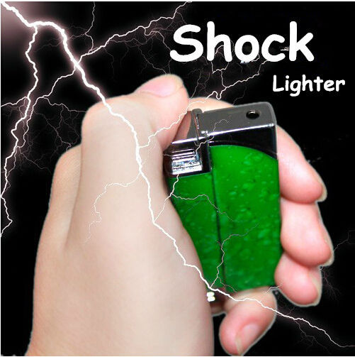 Multifunction Windproof Reuse Lighter Electric Shock Toy Novelty Joke Gifts Prank Toys Trick Your Friends Free Shipping(China (Mainland))