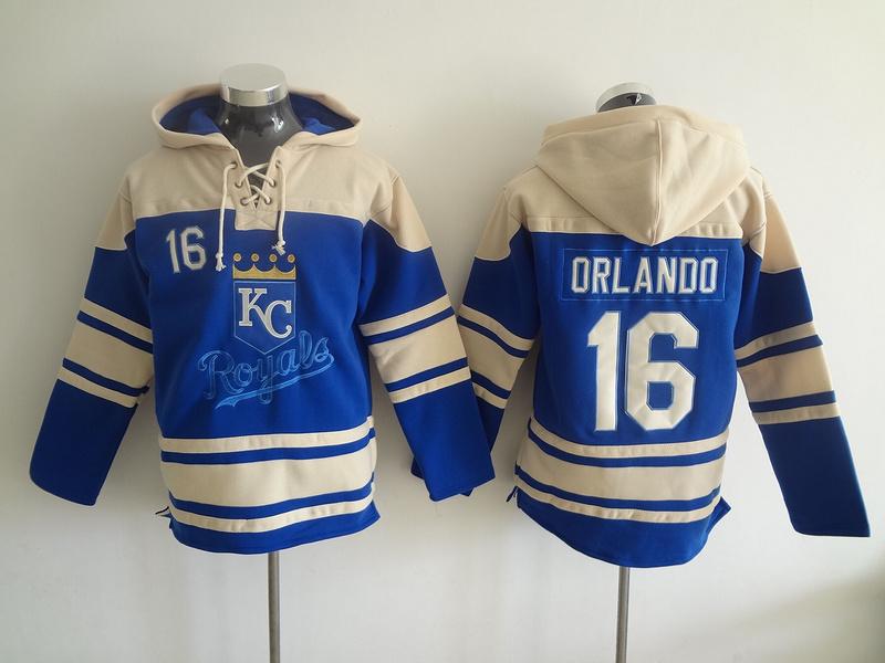 2016 New Kansas City Royals Mens Sweaters #16 Paulo Orlando Blue Baseball Jersey Hoodies 5833<br><br>Aliexpress
