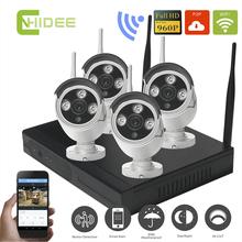 Cnhidee Видеонаблюдения Wifi Беспроводной IP Беспроводной Камеры Системы 4CH 960 P IP Wi-Fi Открытый HD NVR КОМПЛЕКТ 1,3-МЕГАПИКСЕЛЬНОЙ день ночь cctv комплект