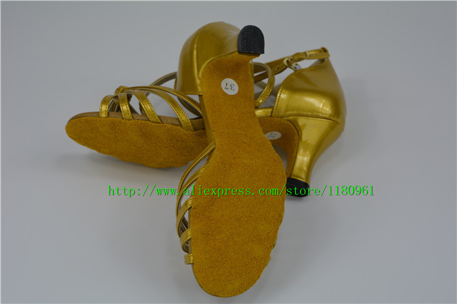 Manufacturers selling adult women's gold PU6.5 points with Latin dancing shoes CL18 practise shoes shoes square dancing shoes