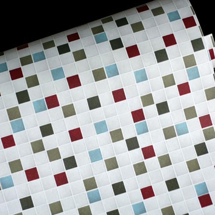 Buy mosaic self adhesive paper bathroom waterproof for Mosaic wallpaper for walls
