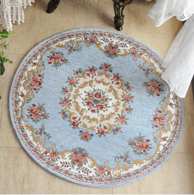 S&V Modern Carpets blue tapetes round mats for living room and bedroom doormats floor bathmats kids child christmas decoration.(China (Mainland))